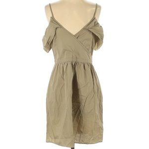 MADEWELL Tan Off The Shoulder Dress Size 4